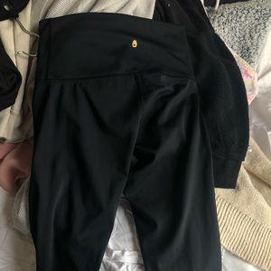 Cropped black Spiritual Gangster leggings